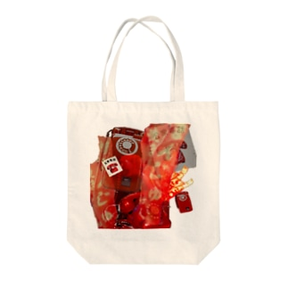 赤 Tote bags
