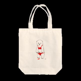 白井まめのらくがきしろくま(ビキニver.) Tote bags