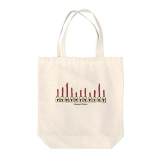 ニワトリメーター Tote bags