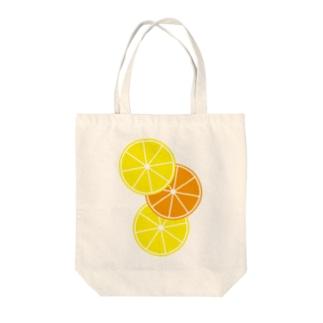 レモンとオレンジ Tote bags