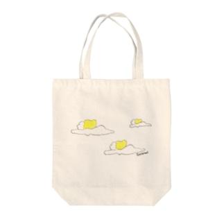 空飛ぶ裸体 Tote bags