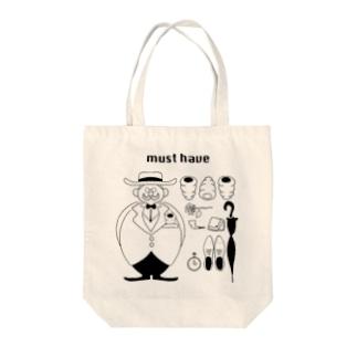 コロネと紳士 Tote bags