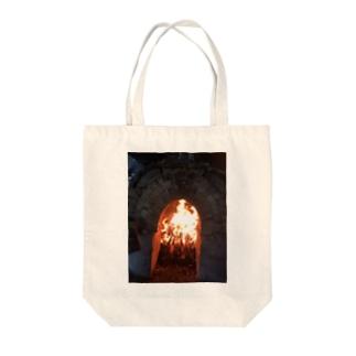 薪窯の火 Tote bags