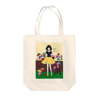 白雪姫と小人たち Tote bags