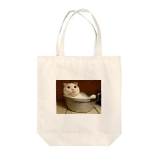 猫となべ Tote bags