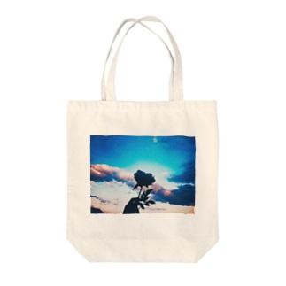 蒼き青 Tote bags