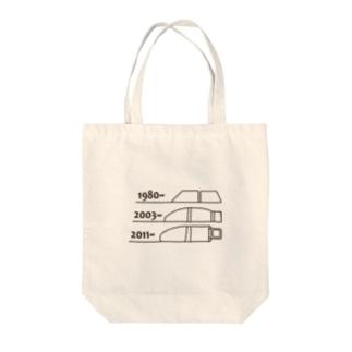 小動物lovesFIATのFIAT_PANDA窓枠【Brown】 Tote bags