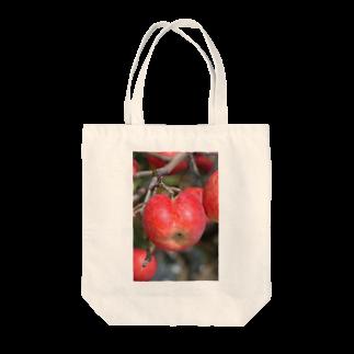 古川 曻一のお乙なリンゴ Tote bags