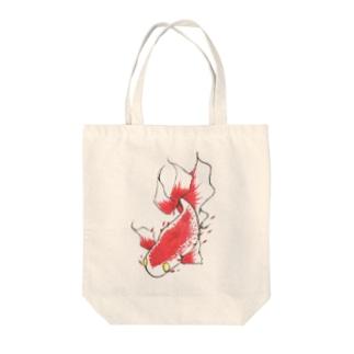 赤い魚 Tote bags
