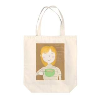 Good morning My morning begins with a cup of café au lait. Tote bags