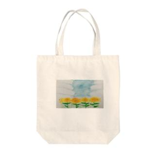 夏の思ひ出 ひまわり Tote bags