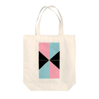 ピンク水色 Tote bags