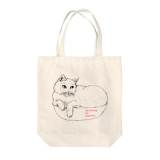 サラダボウルと猫 トートバッグ