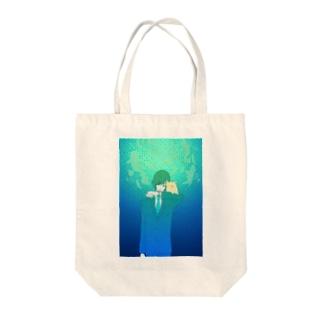 shinkai Tote bags