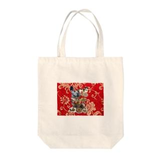 食い散らかし 中華パーティ 赤 Tote bags
