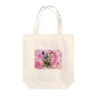 食い散らかし 中華パーティ ピンク Tote bags