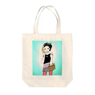 バナナテレフォン Tote bags
