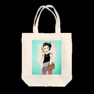 rudegirlのバナナテレフォン Tote bags