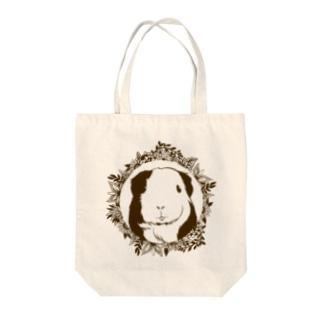 モノクロリース*モルモット Tote bags