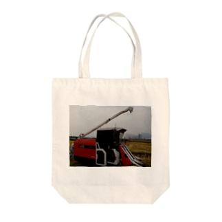コンバイン Tote bags