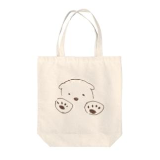 しろきゅま Tote bags