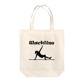 スラックライン(ガンビット) Tote bags