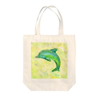 aquamarine Tote bags