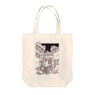 本の虫 Tote bags