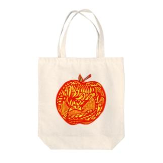 りんご A Tote bags