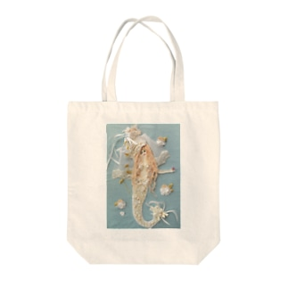 The Little Mermaid with Flowers Tote bags