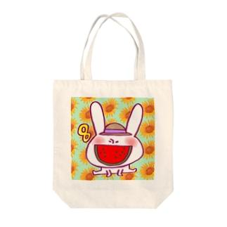 8月のうさぎ  Tote bags