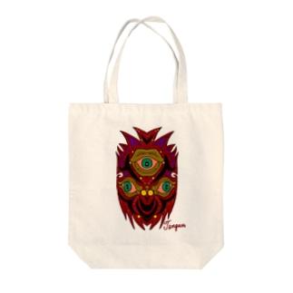 Three eyeballs Tote bags