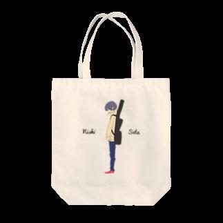西西太館の西西太オリジナルイラストトートバッグ Tote bags