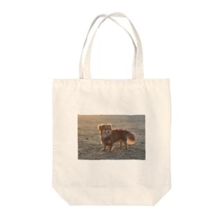 愛犬フォトプリント Tote bags