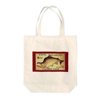 カラフトマス!羅臼【セッパリ;PINK SALMON】生命たちへ感謝を捧げます。※価格は予告なく改定される場合がございます。 Tote bags