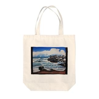 冬の海岸 Tote bags