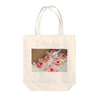 かわいらしいりんご Tote bags