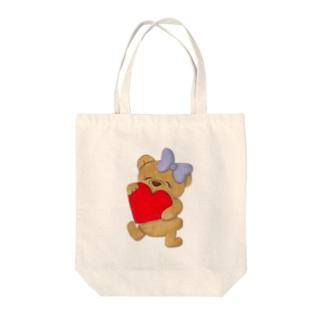 ラブベアちゃん Tote bags