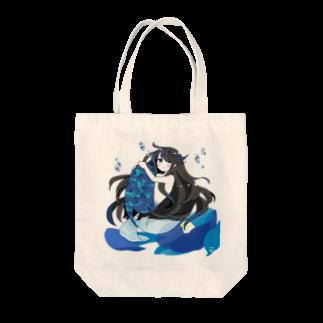 一束の青い椿から生まれた人魚 Tote bags