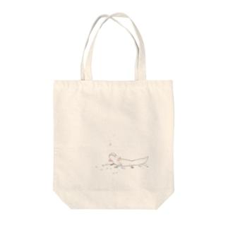 ぬたやのウーパールーパートート リューシチャンver Tote bags