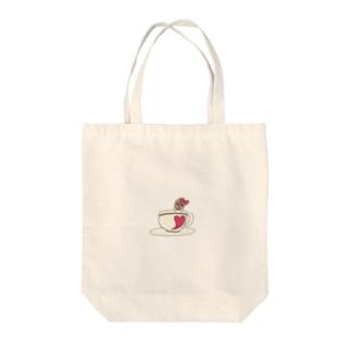 こーひーちゃん Tote bags