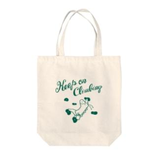 ボルダリングの馬 - こまじ(緑) トートバッグ