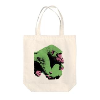Gorilla thinks  Tote bags