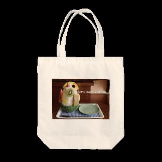 高田万十のLet's have a break. Tote bags