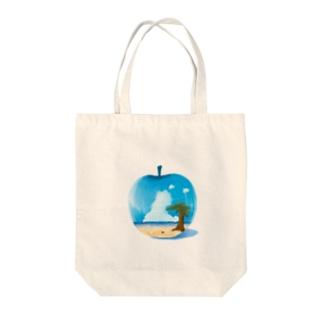 夏っプル Tote bags