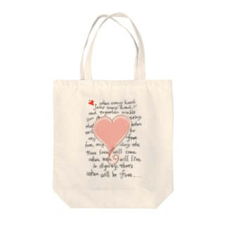 feel-free-Heart Tote bags