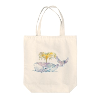 昭島の銭湯のクジラ Tote bags