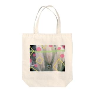 ふわふわの草影 Tote bags