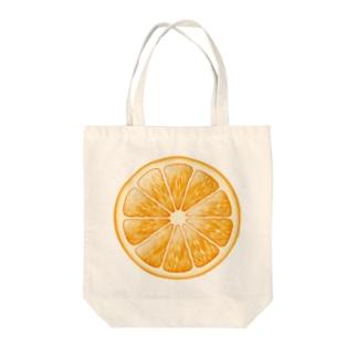 輪切りオレンジのワンポイント Tote Bag
