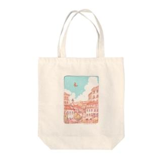 動く街(特に動いていない日の街) Tote bags
